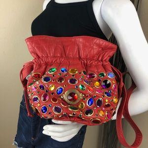 Vintage Jeweled Shoulder Bag